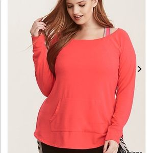 Torrid Size 5- Active off the Shoulder Sweatshirt